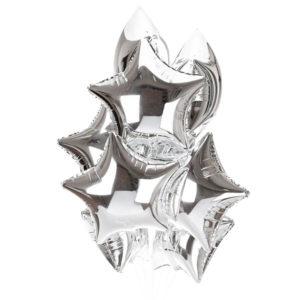 Svyazka iz 10 vozdushnyh sharov serebryanyh zvezd 300x300 Связка из 10 воздушных шаров серебряных звезд